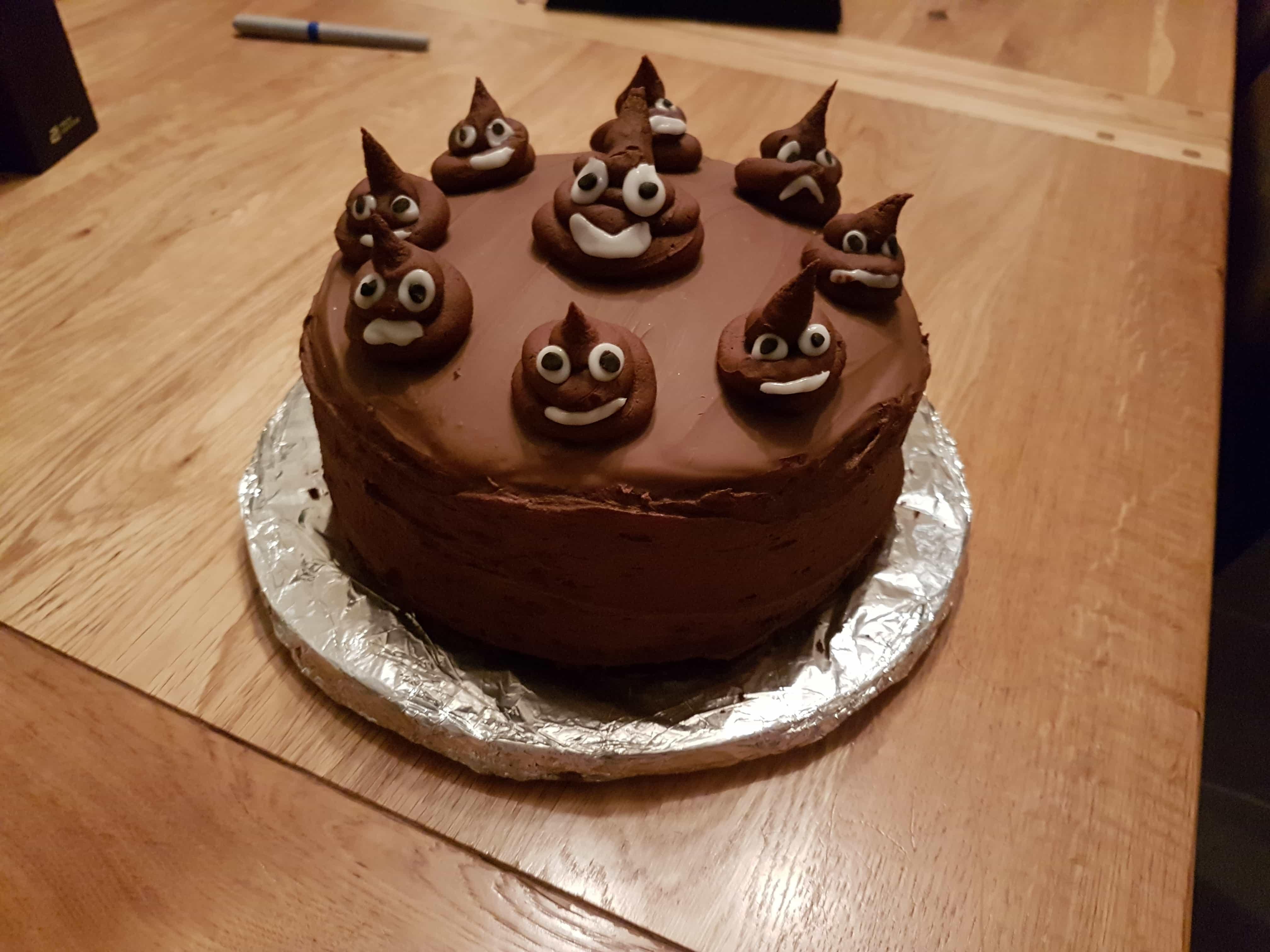Poop Emoji Birthday Cake